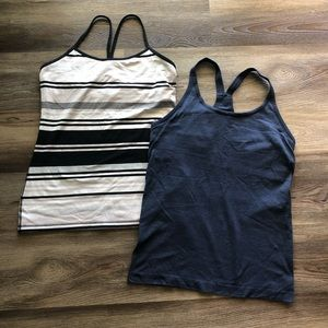 Two Lululemon tank tops EUC size 10